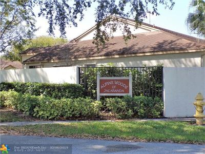 Plantation Condo/Townhouse For Sale: 7931 NW 10th St #7931