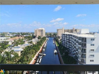 Fort Lauderdale Condo/Townhouse For Sale: 4800 Bayview Dr #904
