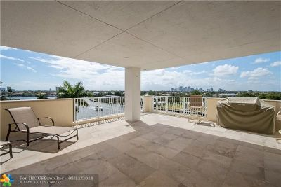 Fort Lauderdale Condo/Townhouse For Sale: 615 Bayshore Dr #603