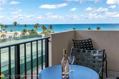 Lauderdale By The Sea Condo/Townhouse For Sale: 5100 N Ocean Blvd #604
