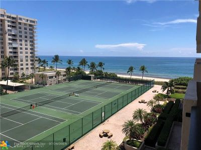 Lauderdale By The Sea Condo/Townhouse For Sale: 5100 N Ocean Blvd #704