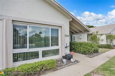 Delray Beach Condo/Townhouse For Sale: 724 Lago Rd