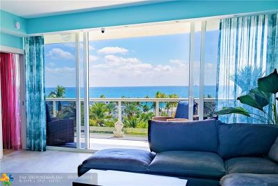 Fort Lauderdale Condo/Townhouse For Sale: 3100 N Ocean Blvd #707