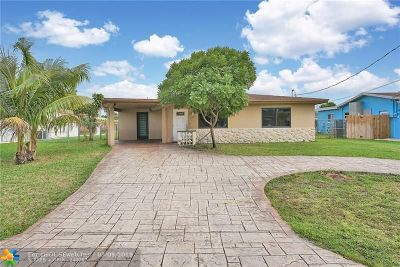 Oakland Park Single Family Home For Sale: 4450 NW 19th Ave