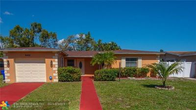 North Lauderdale Single Family Home For Sale: 6491 SW 9th Pl