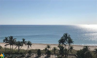 Lauderdale By The Sea Condo/Townhouse For Sale: 4900 N Ocean Blvd #1017