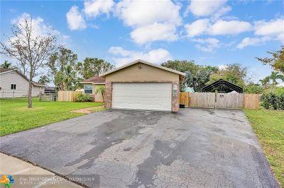 Davie Single Family Home Backup Contract-Call LA: 12960 SW 10th Ct