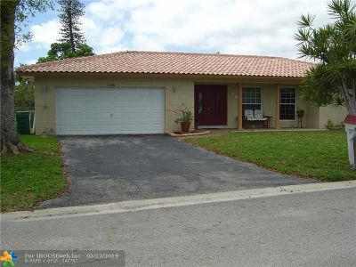 Coral Springs Single Family Home For Sale: 11042 Glenwood Dr