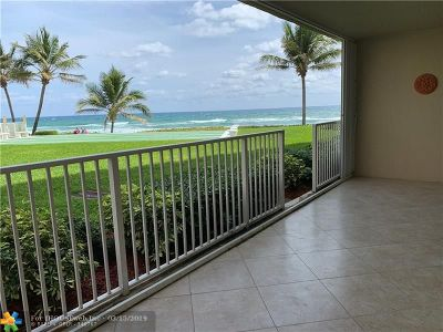 Highland Beach Condo/Townhouse For Sale: 3101 S Ocean Blvd #104