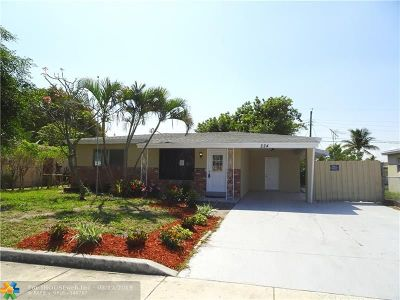 Pompano Beach Single Family Home Backup Contract-Call LA: 224 NE 26th St