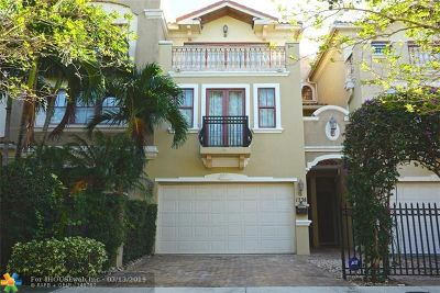 Fort Lauderdale Condo/Townhouse For Sale: 1738 NE 7th St #1738