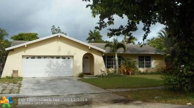 Plantation Single Family Home For Sale: 161 SW 52nd Ave