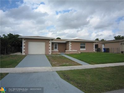 North Lauderdale Single Family Home For Sale: 6351 SW 10th Ct