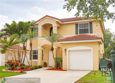Davie Single Family Home For Sale: 15234 SW 49th St
