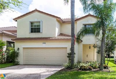 Coral Springs Single Family Home For Sale: 6360 NW 38th Dr
