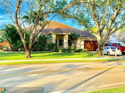 Coral Springs Single Family Home For Sale: 9737 N Springs Way