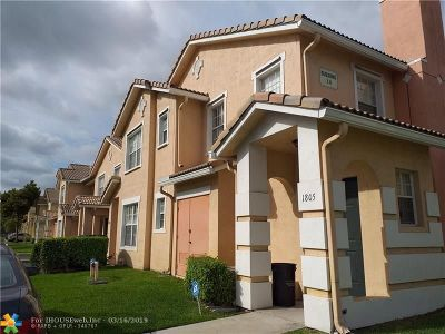 North Lauderdale Condo/Townhouse For Sale: 1805 Belmont Ln #1805