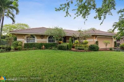 Coral Springs Single Family Home For Sale: 8455 NW 47th Dr