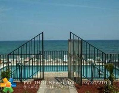 Hillsboro Beach Condo/Townhouse For Sale: 1239 Hillsboro Mile #101