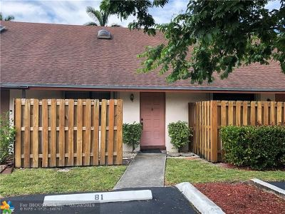 Davie Condo/Townhouse For Sale: 4881 SW 64th Way #4881