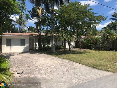 Fort Lauderdale Single Family Home For Sale: 1327 NE 14th St