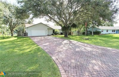 Southwest Ranches Single Family Home For Sale: 5000 SW 201st Ter