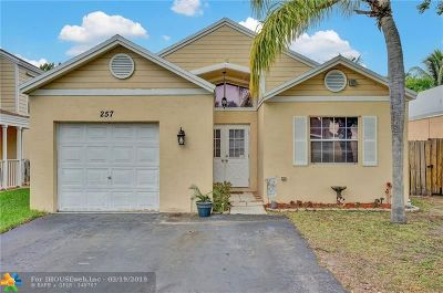 Broward County Single Family Home For Sale: 257 SW 159th Ave