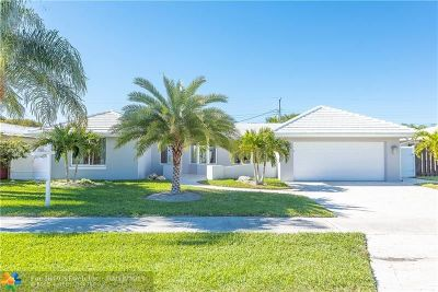 Broward County Single Family Home For Sale: 5941 NE 22nd Way