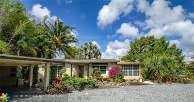 Wilton Manors Single Family Home For Sale: 100 NE 26th Dr