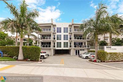 Hillsboro Beach Condo/Townhouse For Sale: 1200 Hillsboro Mile #1301