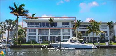 Fort Lauderdale Condo/Townhouse For Sale: 2727 Yacht Club Blvd #1E