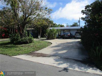 Pompano Beach Single Family Home For Sale: 1240 NE 23 Ave