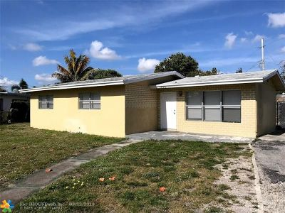 Fort Lauderdale FL Single Family Home For Sale: $222,500