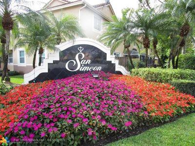 Weston Condo/Townhouse For Sale: 3728 San Simeon Cir #3728