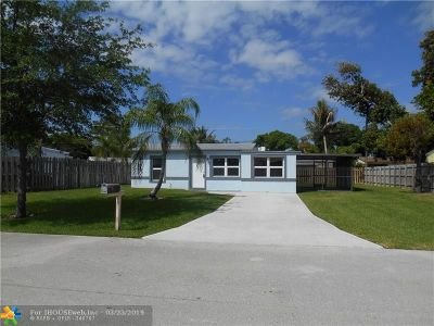 Pompano Beach FL Single Family Home For Sale: $249,500