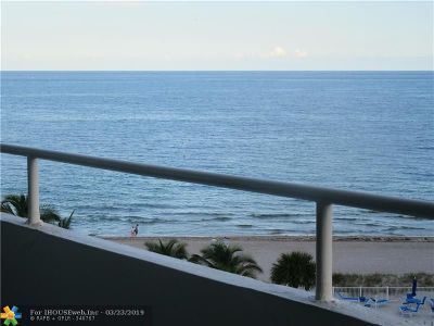 Lauderdale By The Sea Condo/Townhouse For Sale: 4050 N Ocean Dr #703