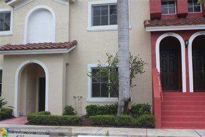 Boynton Beach Condo/Townhouse For Sale: 422 Bayfront Dr #422