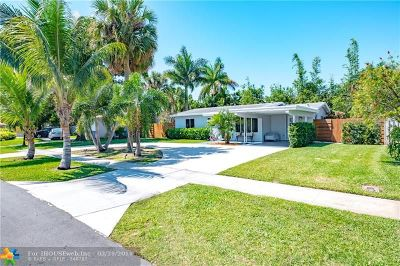 Broward County Single Family Home For Sale: 605 NE 23rd Ter