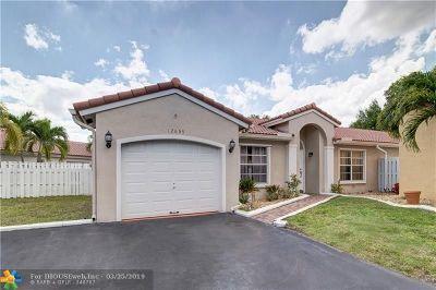Sunrise FL Single Family Home For Sale: $339,900