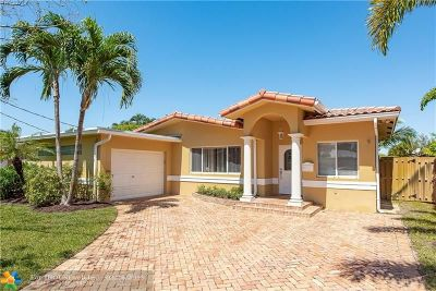 Wilton Manors Single Family Home For Sale: 2001 NE 25th St
