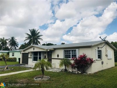 Lauderdale Lakes Single Family Home For Sale: 3647 NW 40th Ct