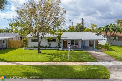 Wilton Manors Single Family Home For Sale: 818 NW 28th Ct