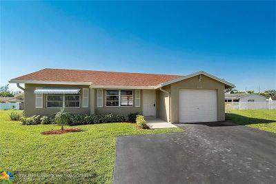 Tamarac Single Family Home For Sale: 8106 NW 95th Ln