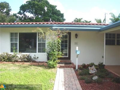 Fort Lauderdale Single Family Home For Sale: 721 SE 11th Ct