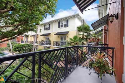 Wilton Manors Condo/Townhouse For Sale: 2269 NE 9th Ave #2269