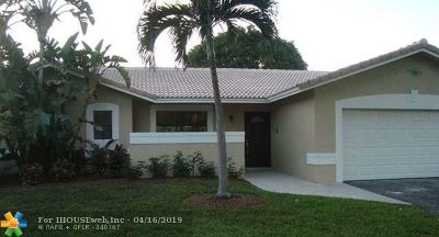 Broward County Single Family Home For Sale: 1736 NW 92nd Way