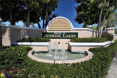 Sunrise Condo/Townhouse For Sale: 2704 NW 104th Ave #109