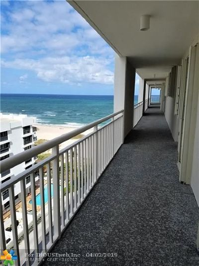 Pompano Beach Condo/Townhouse For Sale: 750 N Ocean Blvd #1101