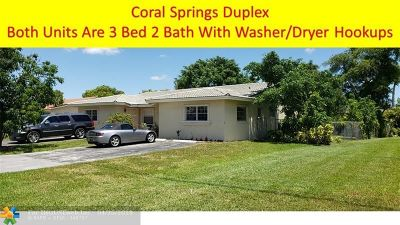 Coral Springs Multi Family Home For Sale: 4191 NW 110th Ave