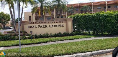 Margate Condo/Townhouse For Sale: 6570 Royal Palm Blvd #204J